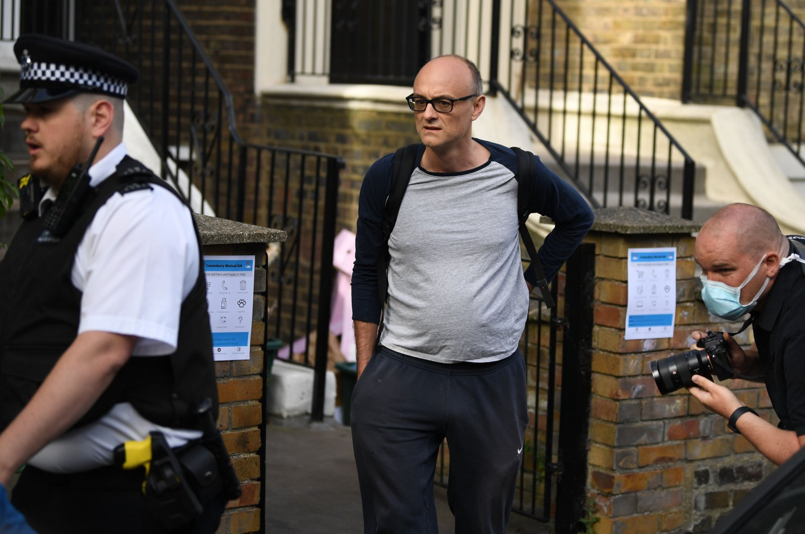 Number 10 special adviser Dominic Cummings leaves his residence, London, England, May 26, 2020. (AFP Photo)