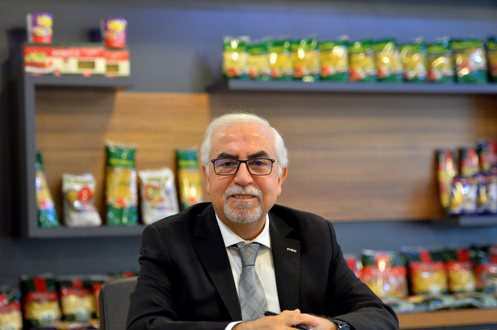 Abdülkadir Külahçıoğlu, the chairman of Pasta Industrialists Association of Turkey (TMSD), spoke to Anadolu Agency about the sector's export performance on May 24, 2020. (AA Photo)