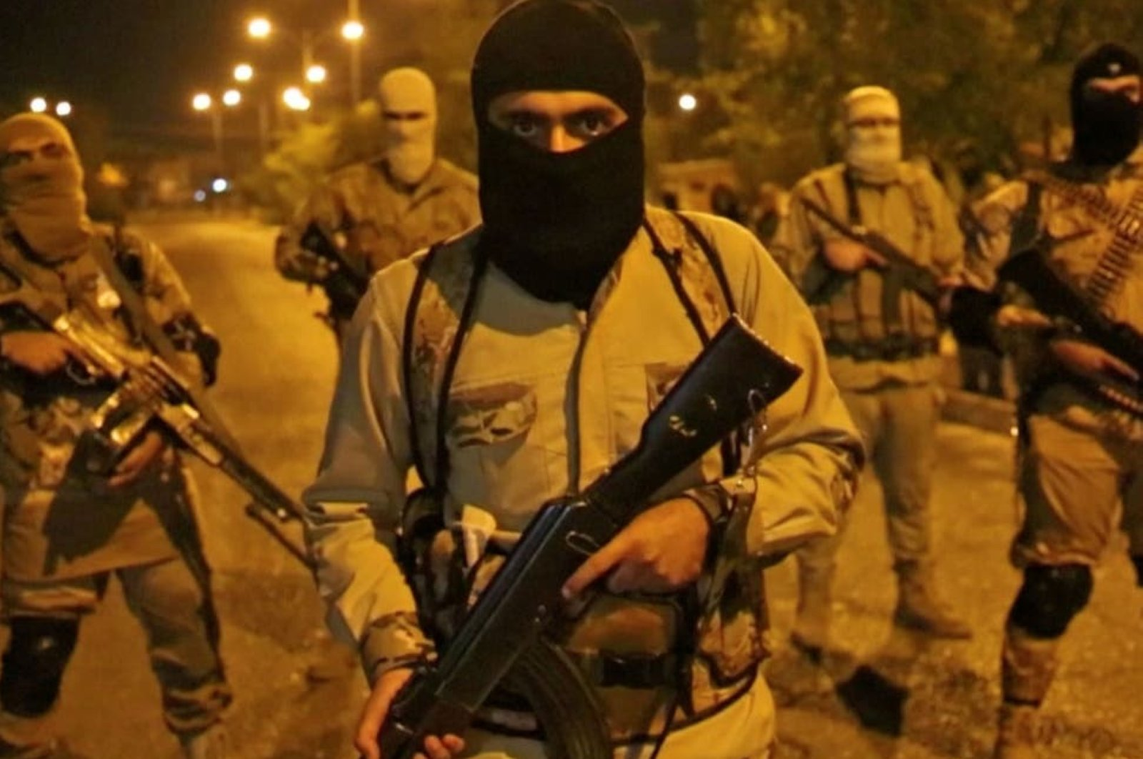 A screengrab from a video released through the Daesh terrorist group's Amaq news agency supposedly shows terrorists in Iraq's Mosul. (File Photo)