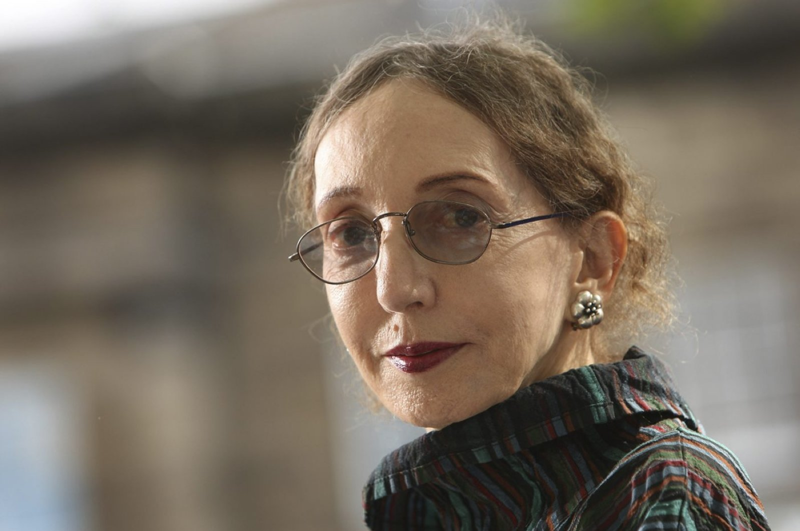 Joyce Carol Oates, an acclaimed U.S. novelist, appears at a photocall prior to participating in the Edinburgh International Book Festival 2012, Edinburgh, Scotland, Aug. 20, 2012. (Photo by Getty Images)