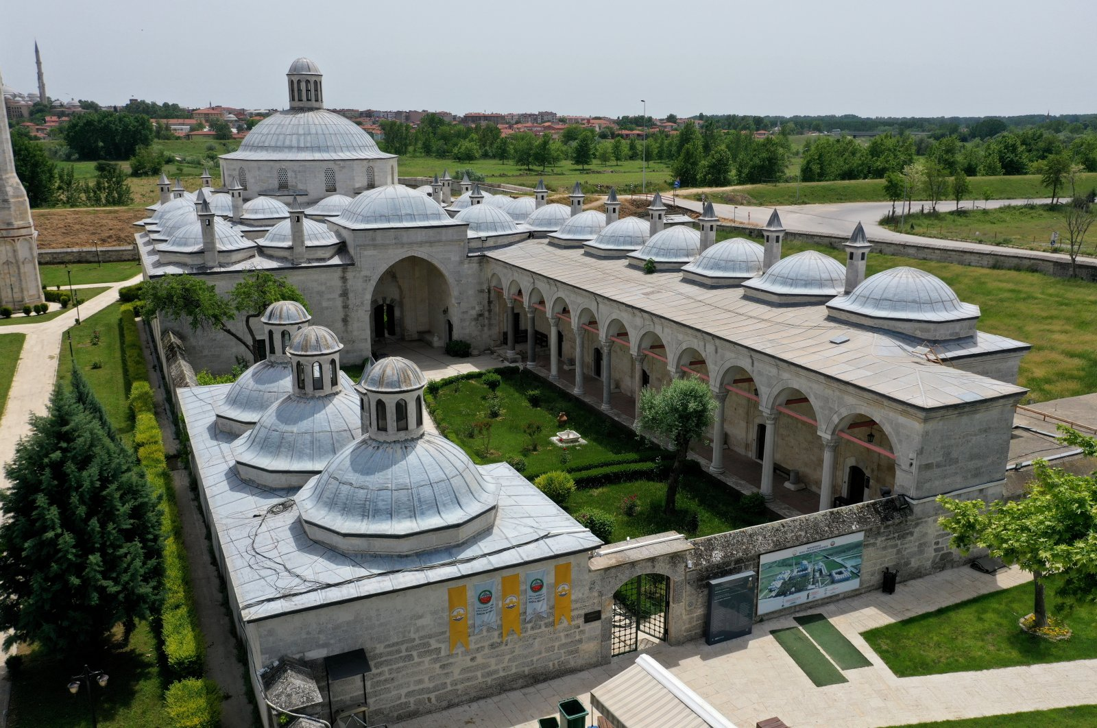 A general view of the Complex of Sultan Bayezid II Health Museum in Edirne, Turkey. (AA Photo)