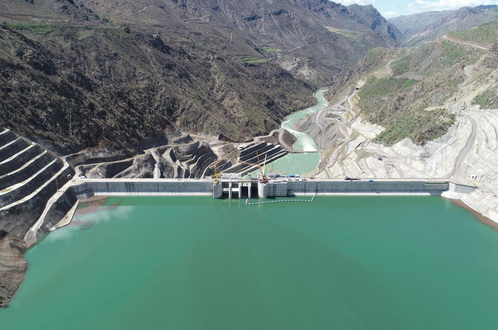 Çetin Dam and Hydroelectric Power Plant in southeastern Turkey. (IHA Photo)