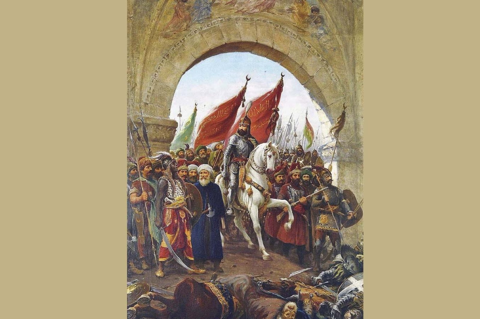 """Fausto Zonaro, """"Mehmed II, Entering Constantinople"""", 1885."""
