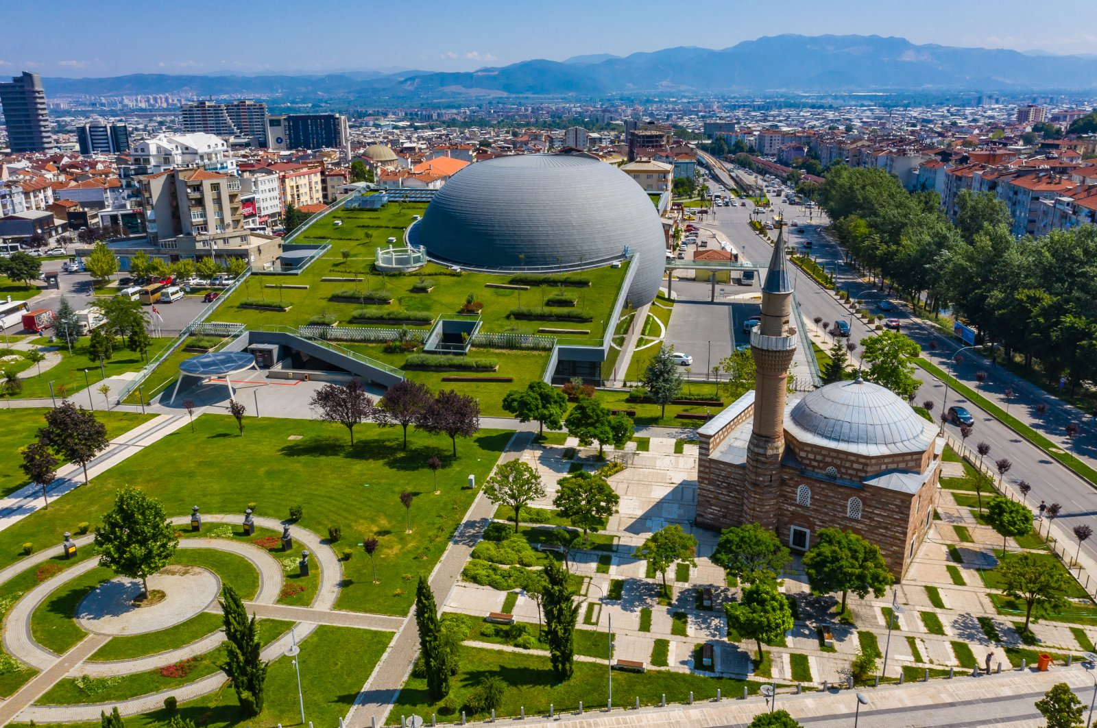 Panorama 1326 Bursa Conquest Museum was constructed in the concept of green building. (AA Photo)