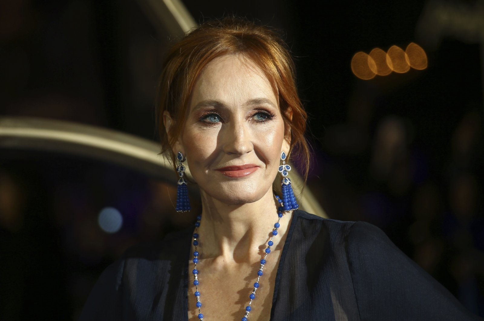 Author J.K. Rowling poses for photographers upon her arrival at the premiere of the film 'Fantastic Beasts: The Crimes of Grindelwald', London, Nov. 13, 2018. (AP PHOTO)