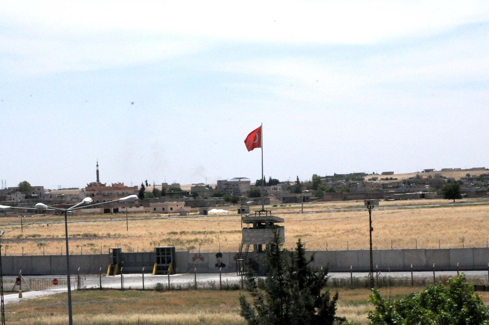 A view of Tal Abyad from southeastern Şanlıurfa province's Akçakale district, May 26, 2020. (DHA)