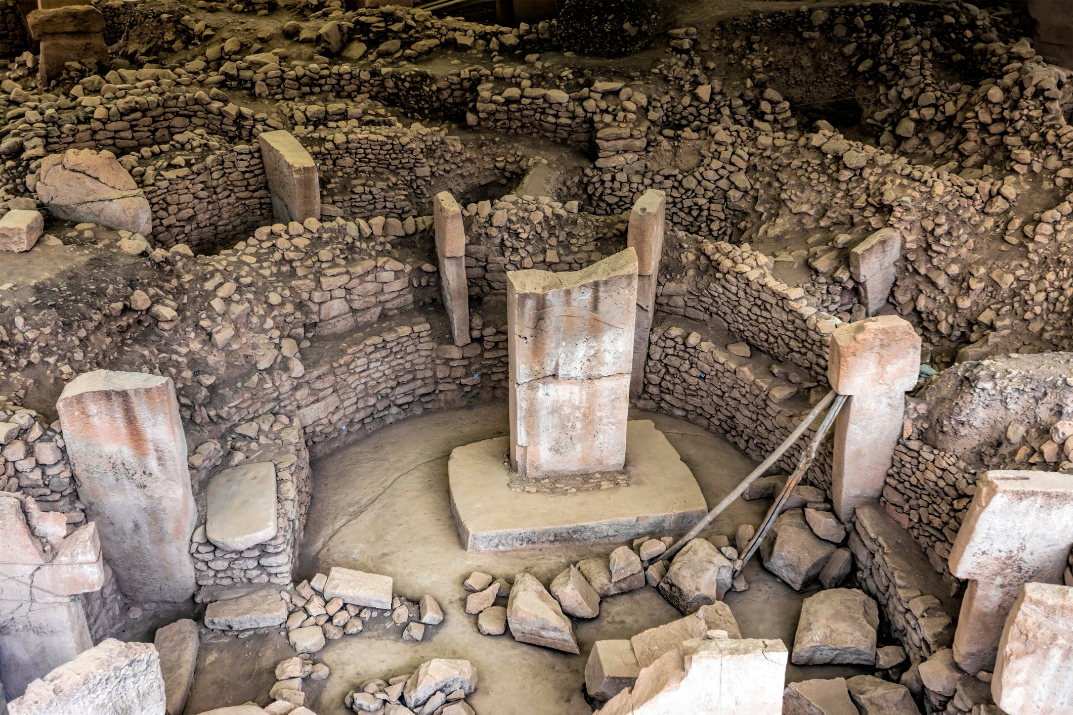 The imposing stratigraphy of Göbeklitepe attests to many centuries of activity, beginning at least as early as the Epipaleolithic period. (iStock Photo)
