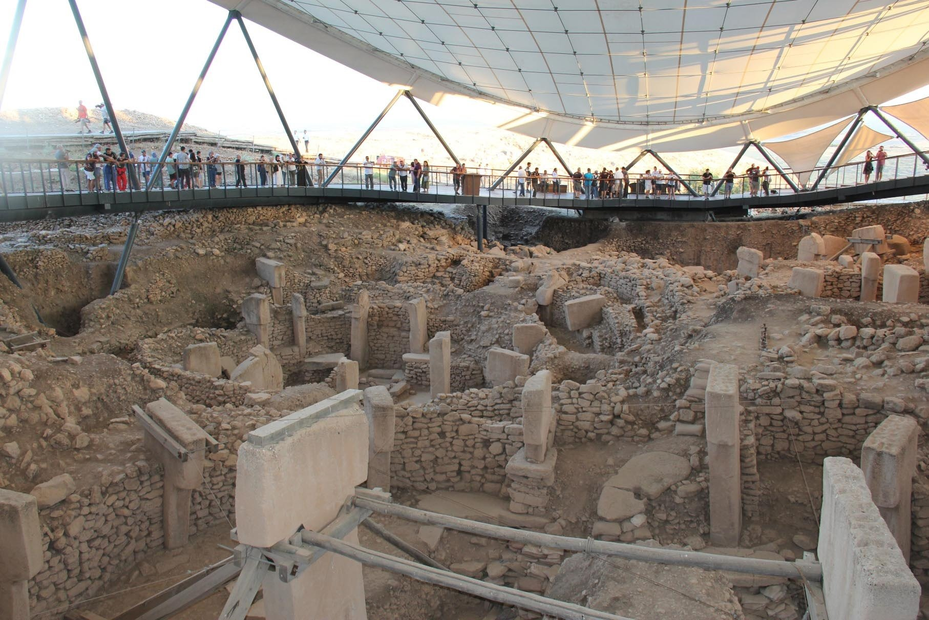 Göbeklitepe is an ancient temple more than 12,000 years old. (DHA Photo)