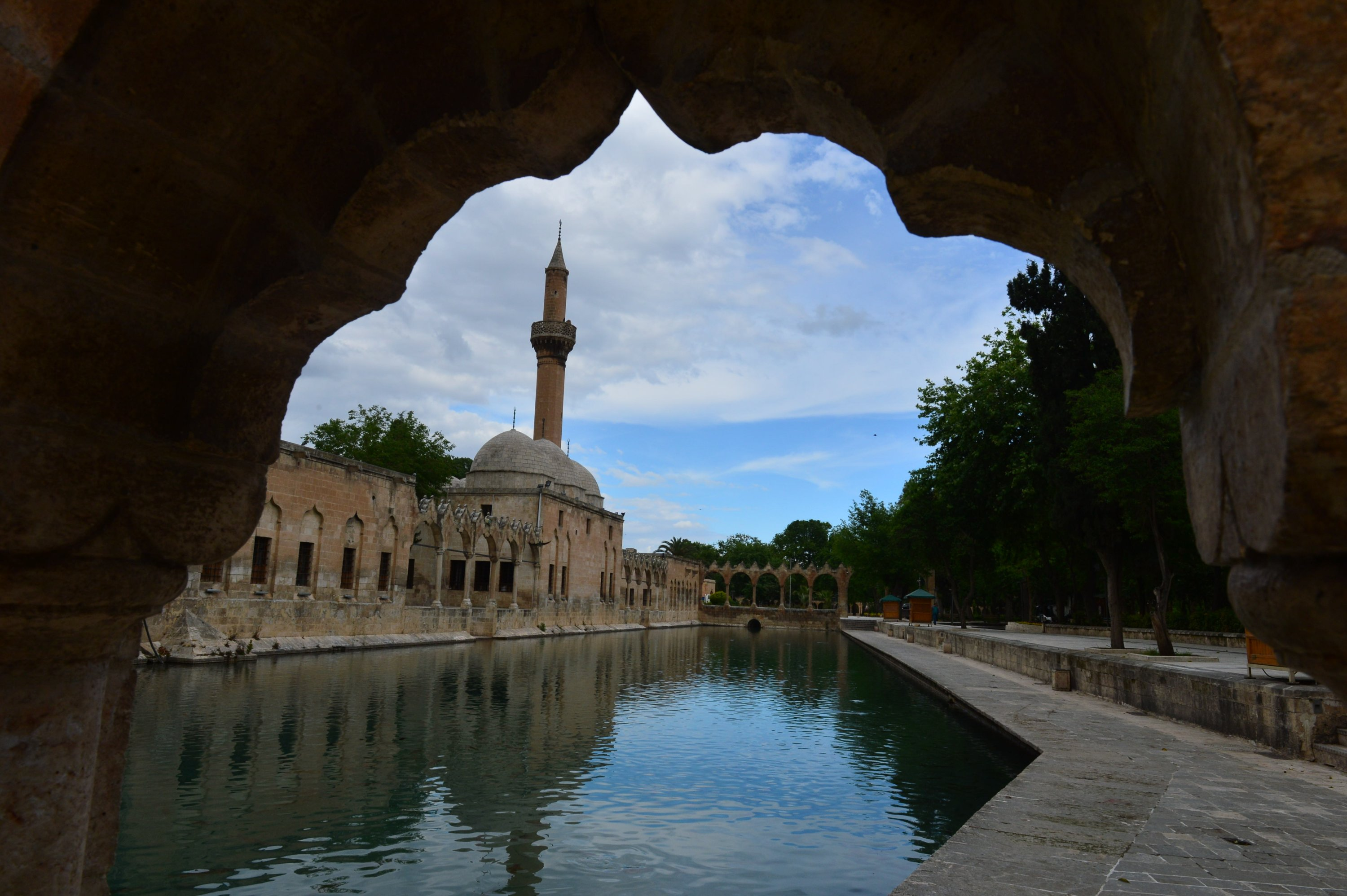 Balıklıgöl is the legendary pool of sacred fish where Abraham was thrown into the fire by Nimrod. (AA Photo
