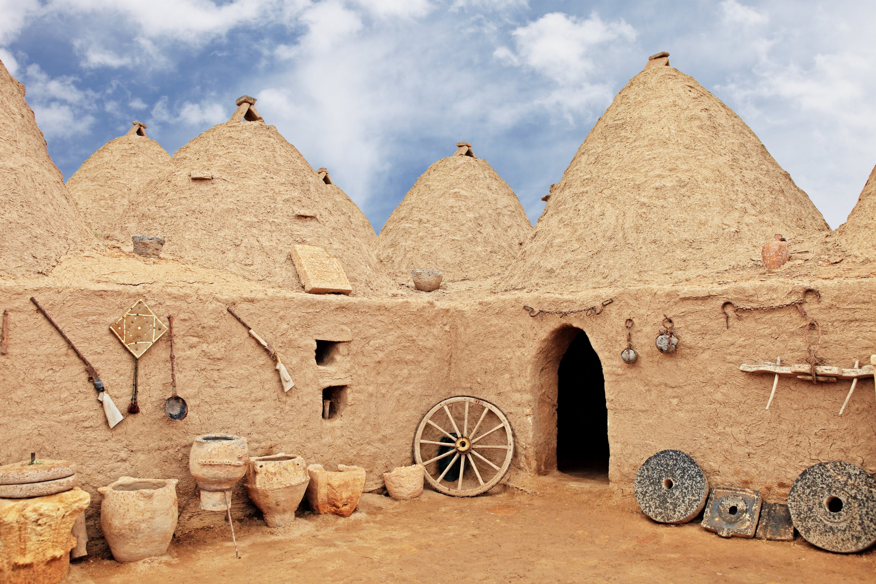 Harran is known for its beehive-domed vernacular houses. (iStock Photo)