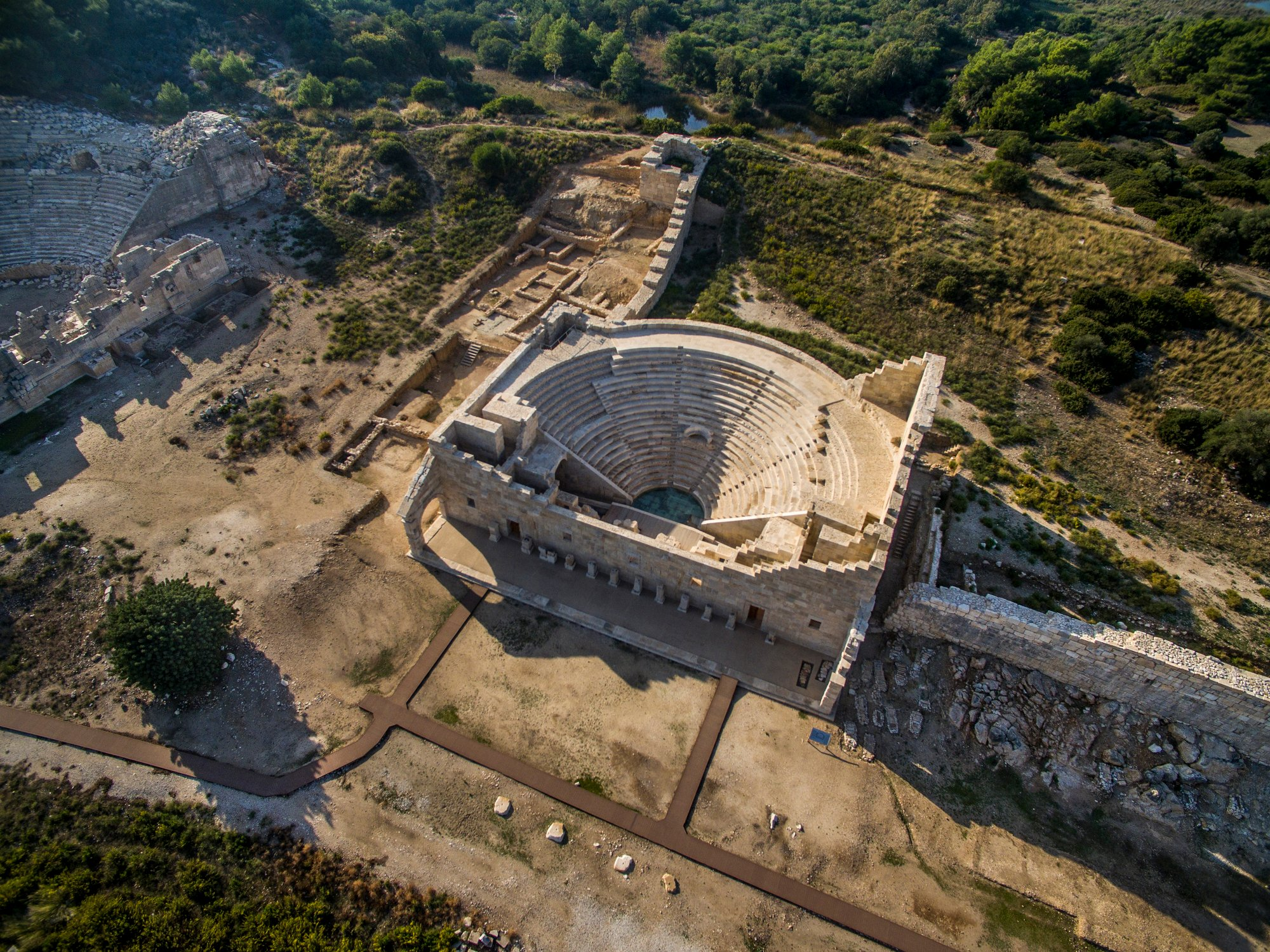 The sculptures were found during excavations in the ancient theater. (Yücel Özel / iStock Photo)