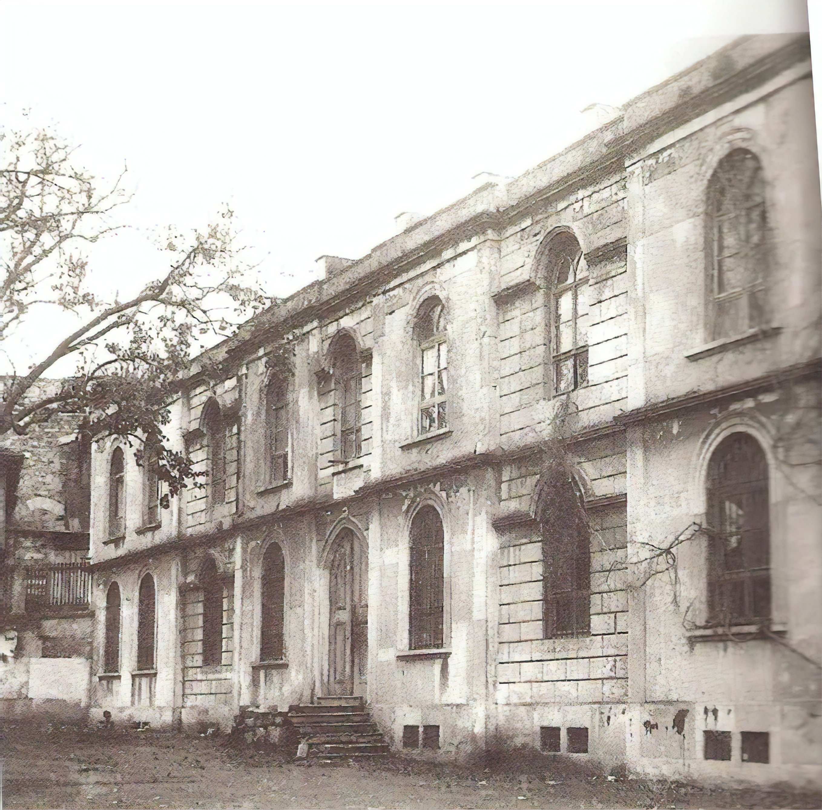 An old photo of the madrasah.