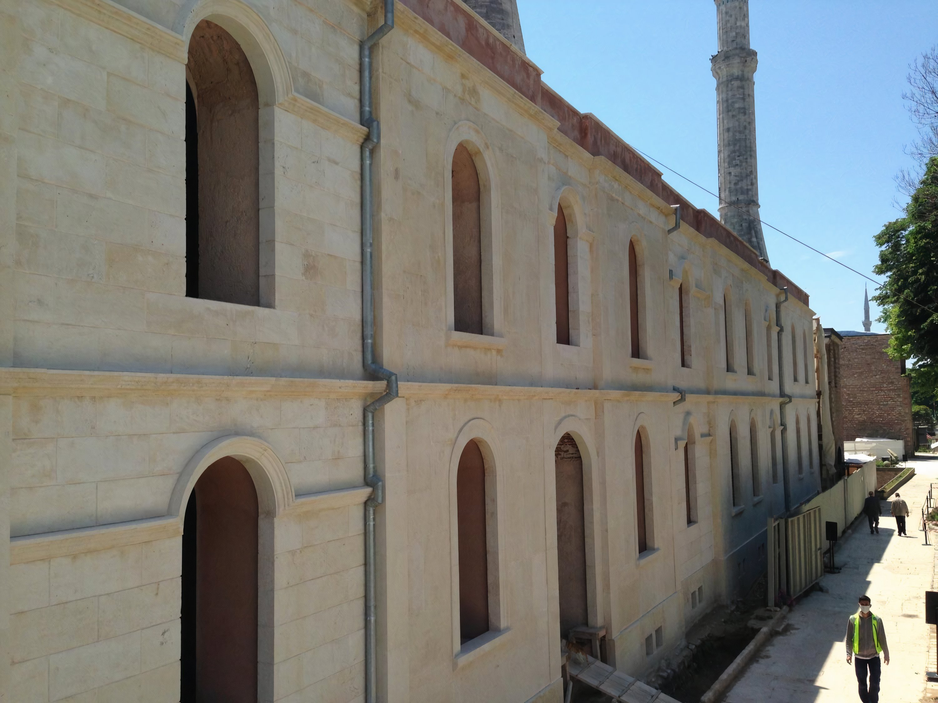 The ongoing restoration works in the historical madrasah are now at the final stage.