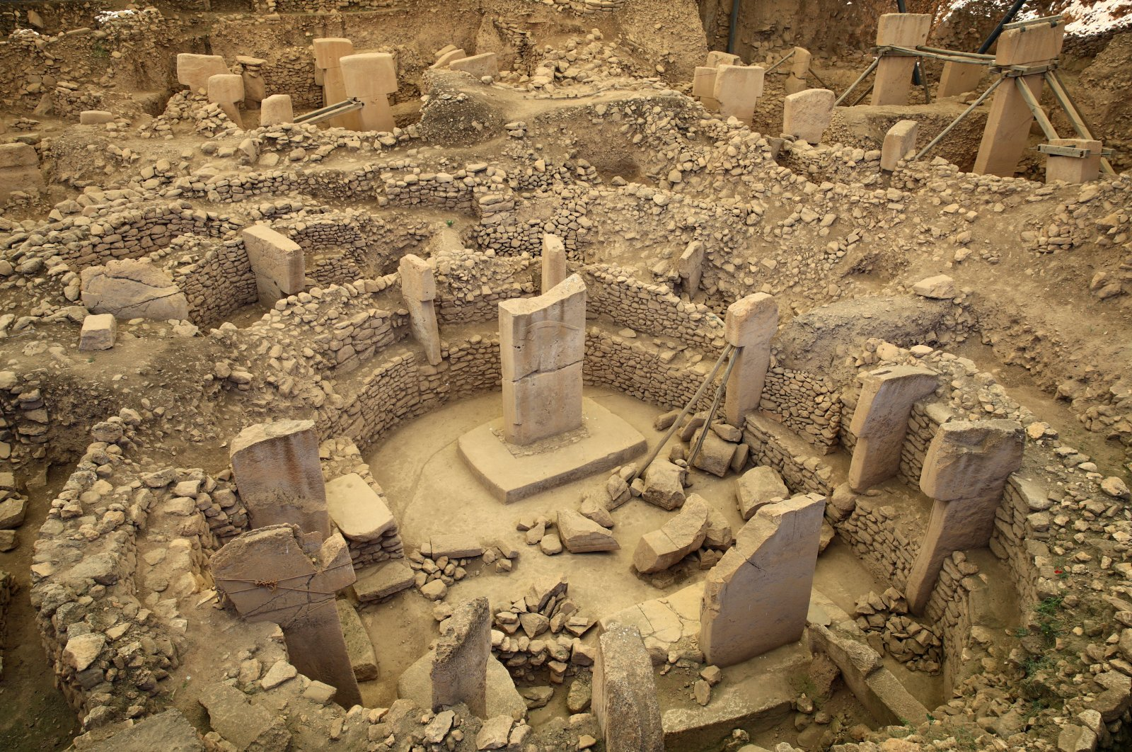 A general view of an excavation site is seen in Göbeklitepe in the southeastern province of Şanlıurfa, Turkey, June 2, 2019. (Reuters Photo)