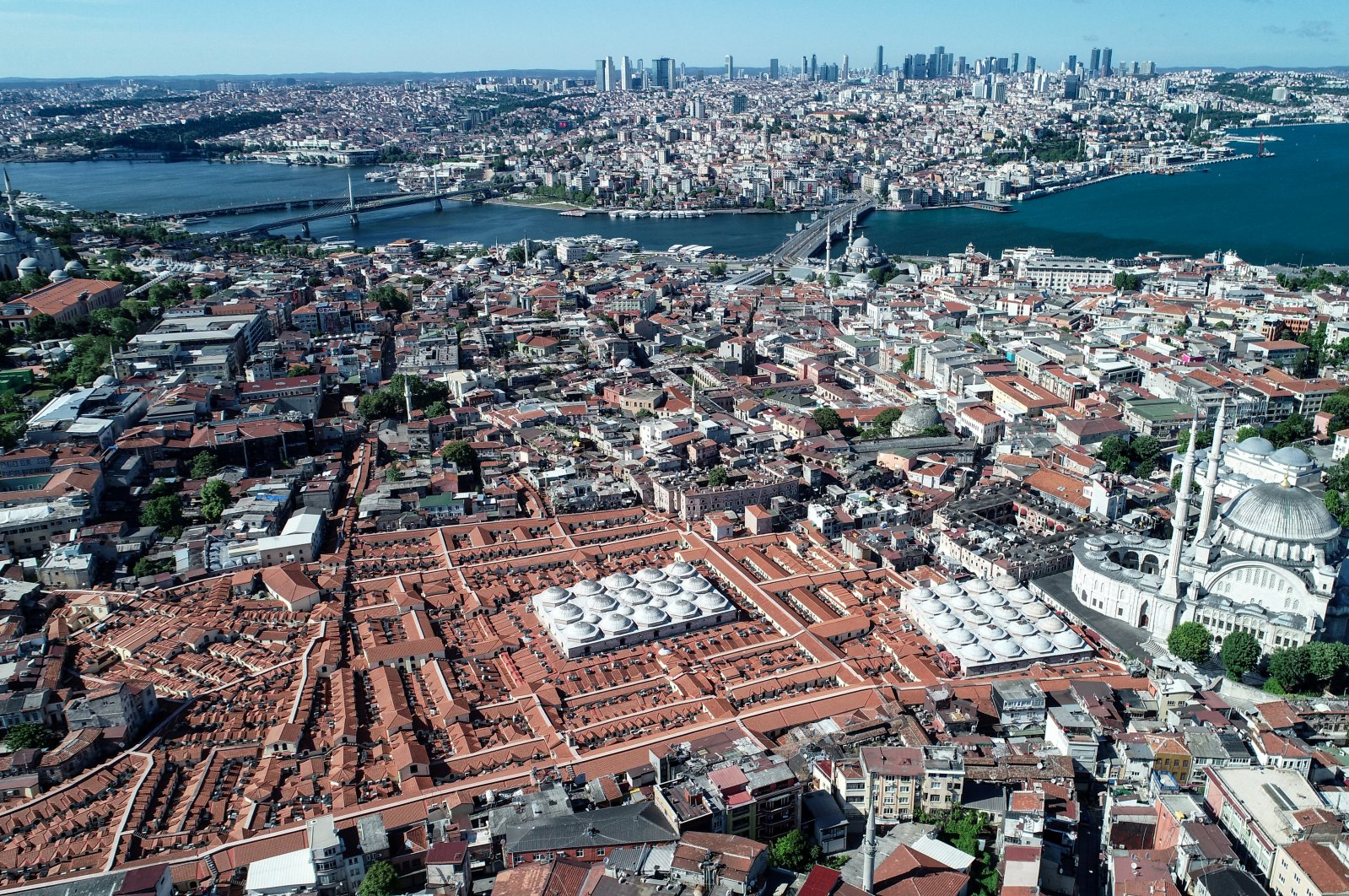 An aerial view of the Grand Bazaar during a four-day curfew amid the COVID-19 pandemic, Istanbul, May 26, 2020. (Reuters Photo)