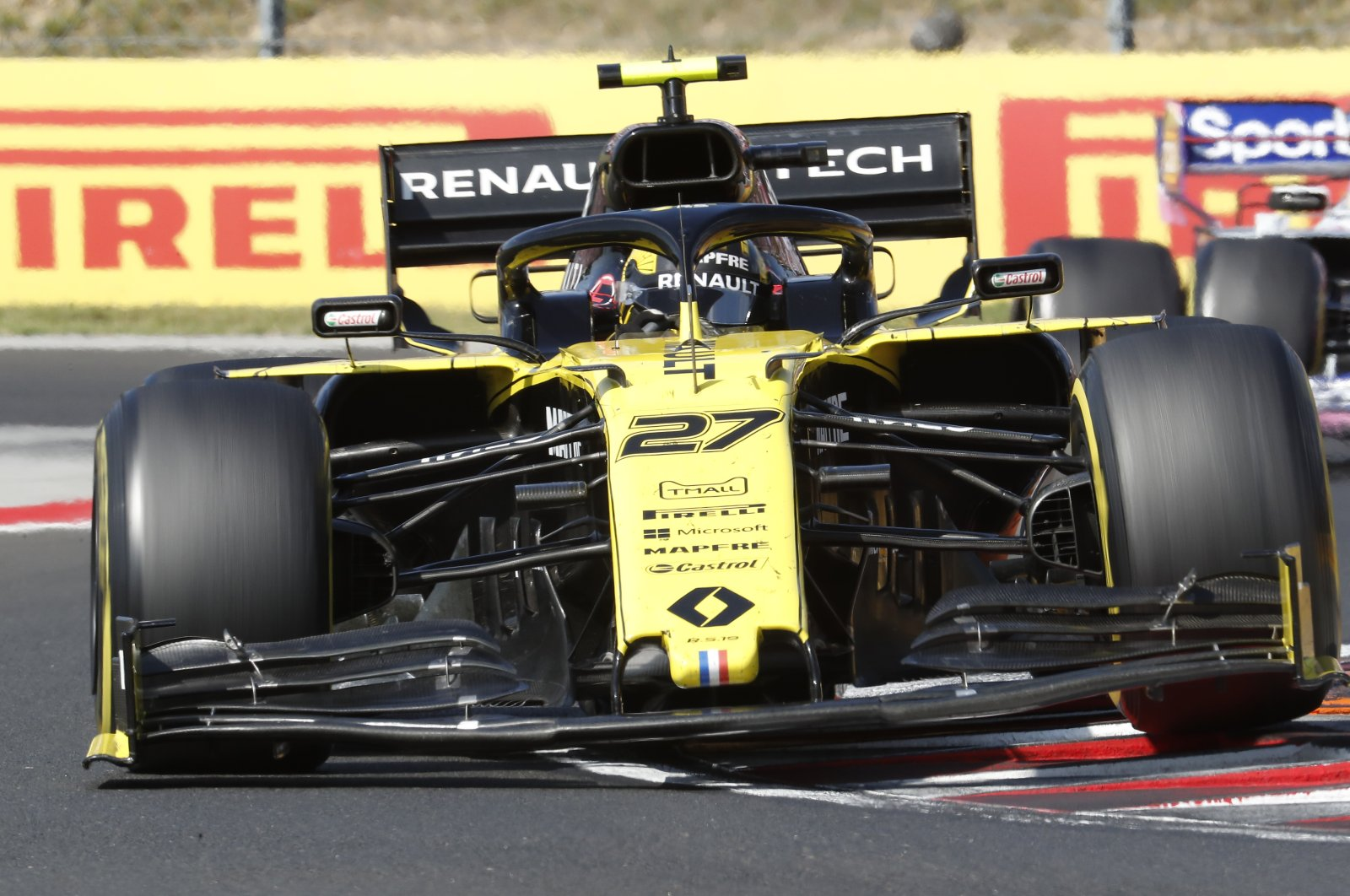 Renault driver Nico Hulkenberg during the Hungarian GP near Budapest, Hungary, Aug. 4, 2019. (AP Photo)