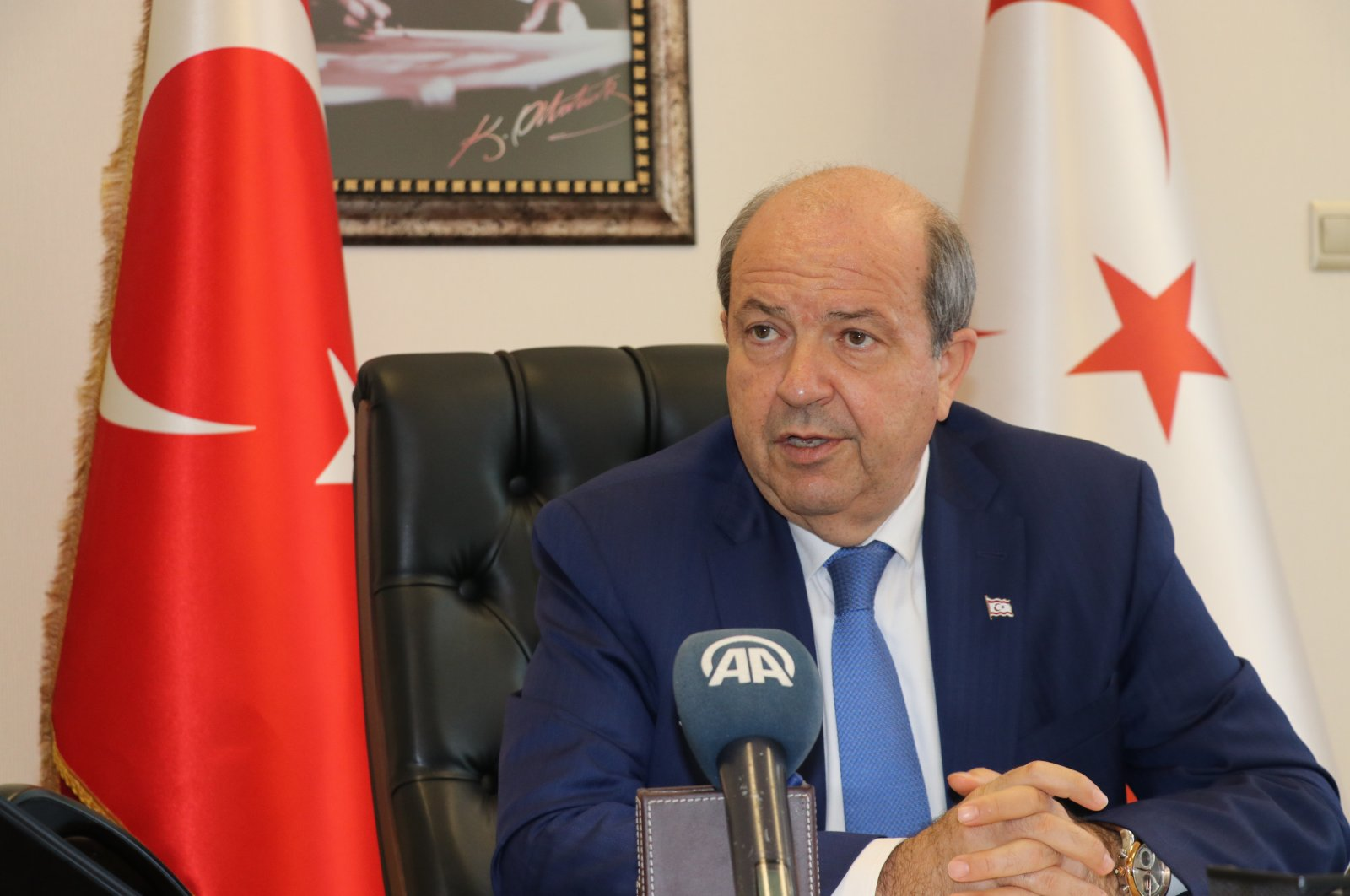 The Turkish Republic of Northern Cyprus' (TRNC) Prime Minister Ersin Tatar (AA Photo)
