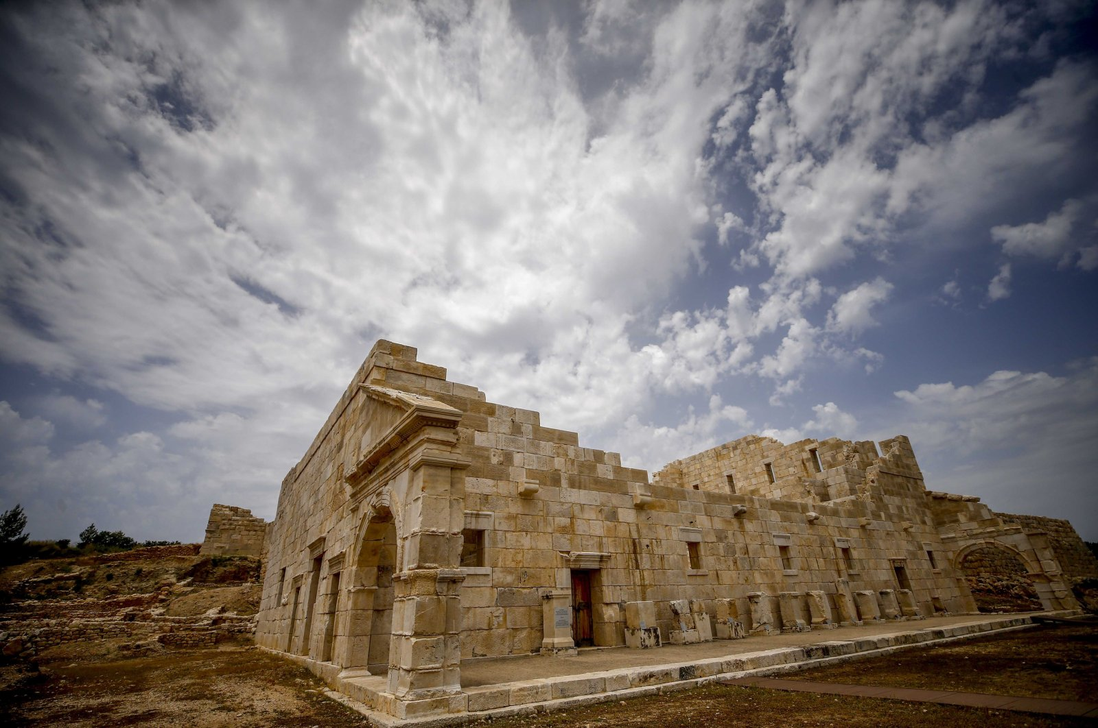 The Paliament Building is one of the excavation areas in the ancient city of Patara. (AA Photo)