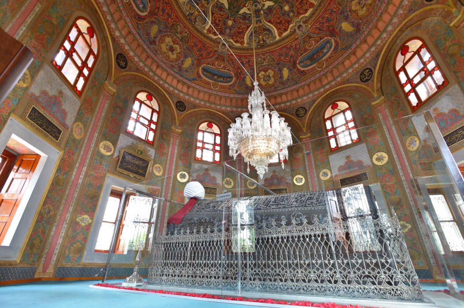 A photo from the interior of the Hagia Sophia Fatih Madrasah.