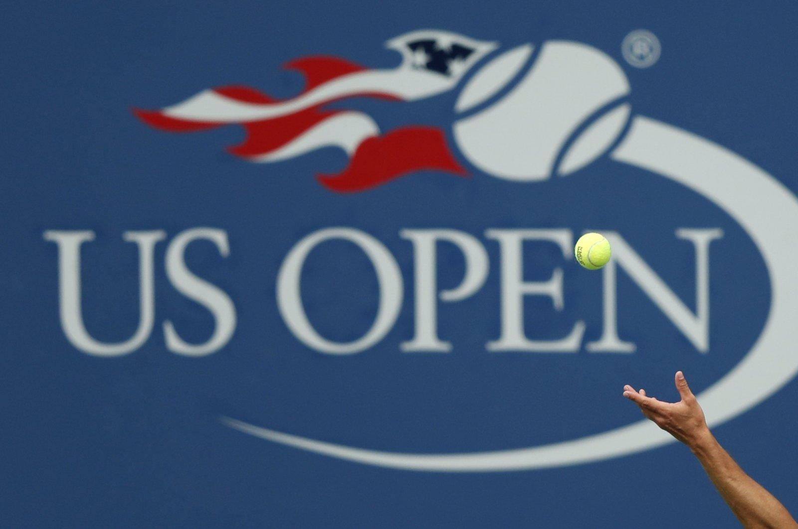 Philipp Kohlschreiber serves to John Millman during U.S. Open tennis tournament match in New York, U.S., Sept. 2, 2017. (AP Photo)