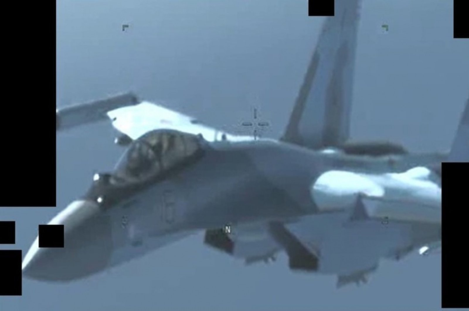 An image released by the U.S. Africa Command, which it says shows one of the MiGs that flew to Libya, May 26, 2020. (U.S. Africa Command)
