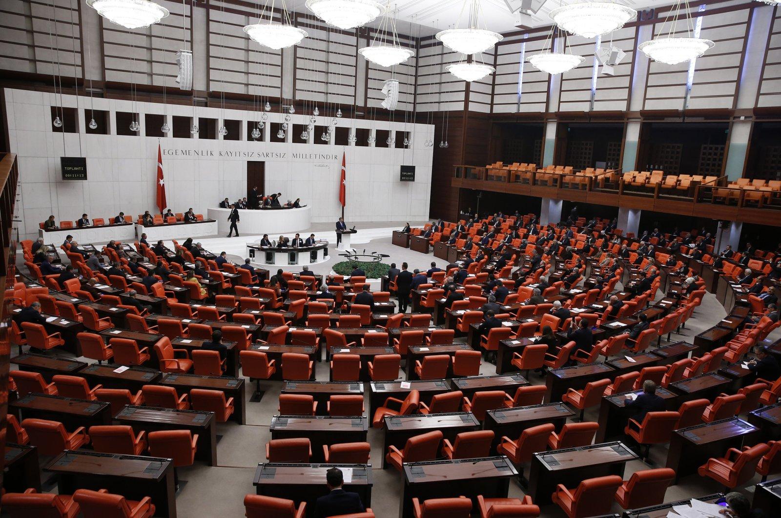 Health Minister Fahrettin Koca made a speech in the assembly regarding COVID-19, March 20, 2020 (AA Photo)