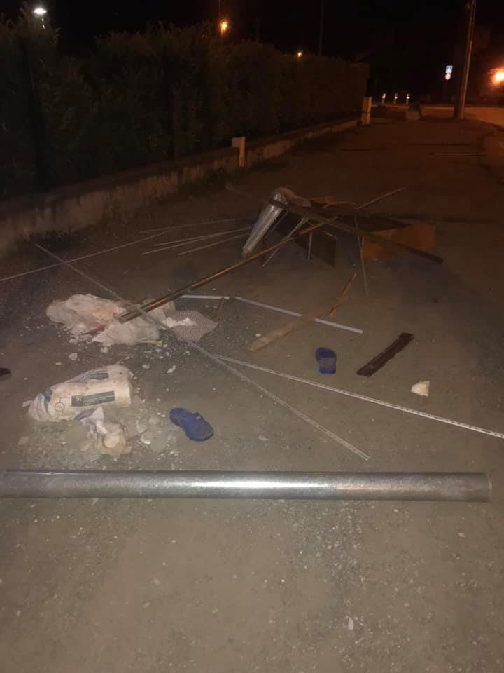 Parts of the mosque seen on the street. (Photo courtesy of Fatih mosque/Facebook)