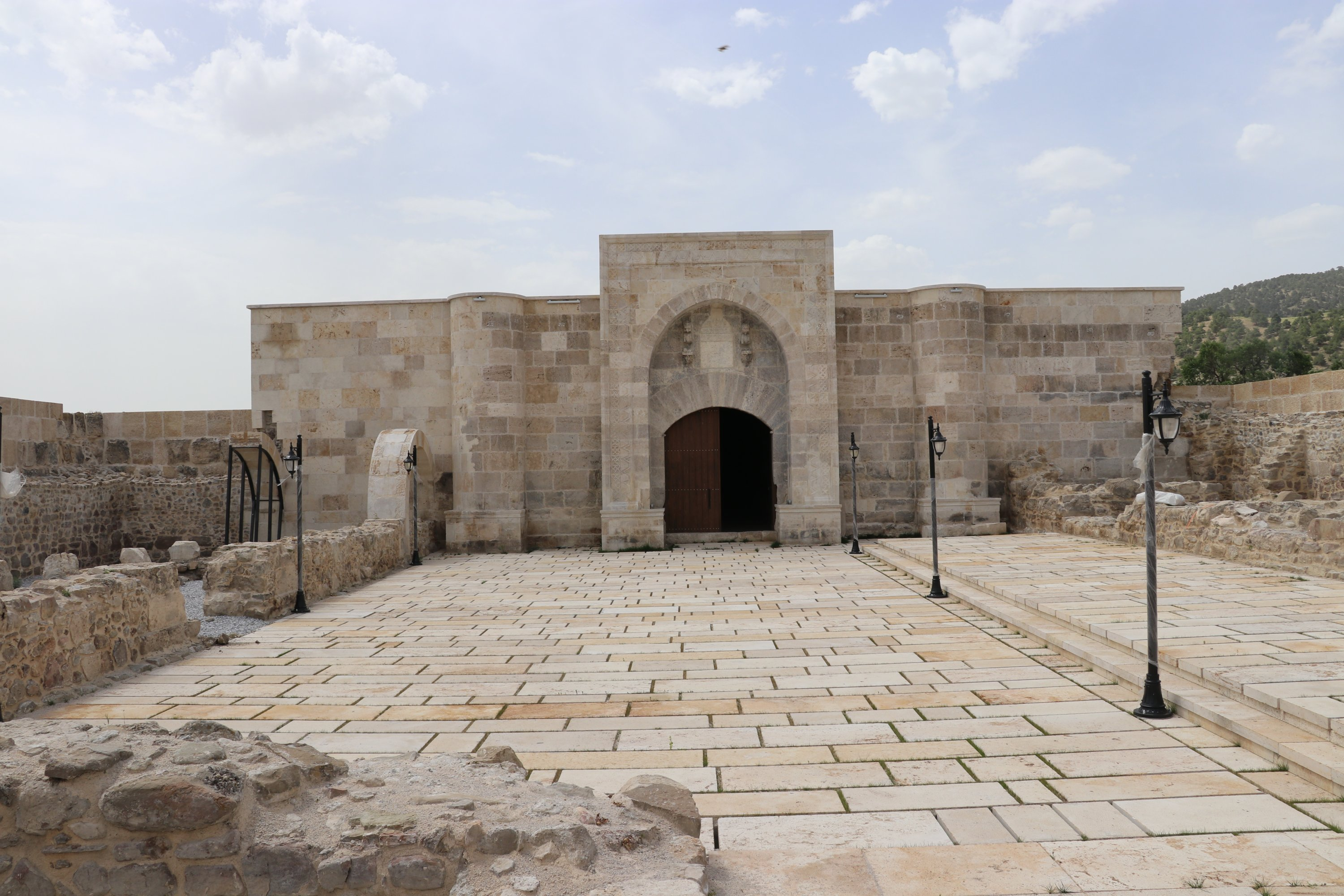 The inscription of the Çardak Han is placed on the crown gate. (AA Photo)