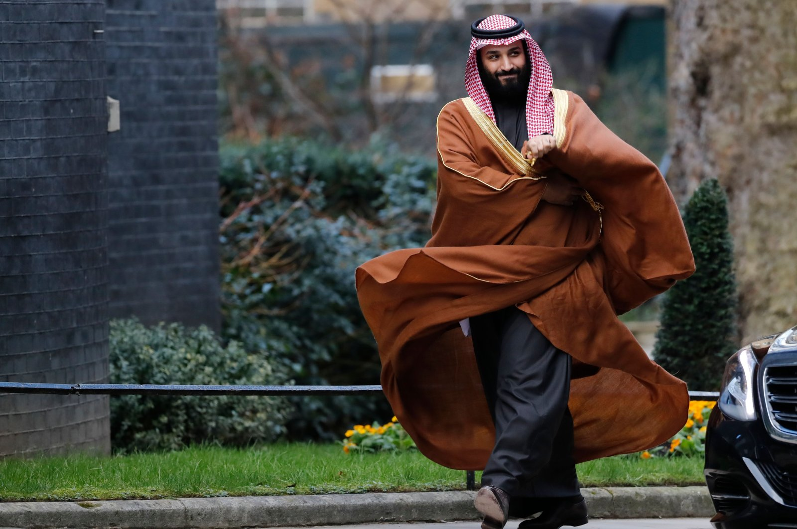 This March 07, 2018, file photo shows Saudi Arabia's Crown Prince Mohammed bin Salman arriving for talks at the British Prime Minister's office at 10 Downing Street, in London. (AFP Photo)