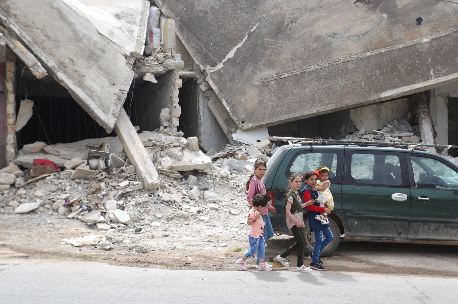 Civilians in the Ariha district now live in a relatively secure environment since the cease-fire in northwestern Idlib, Syria, May 25, 2020 (AA Photo)