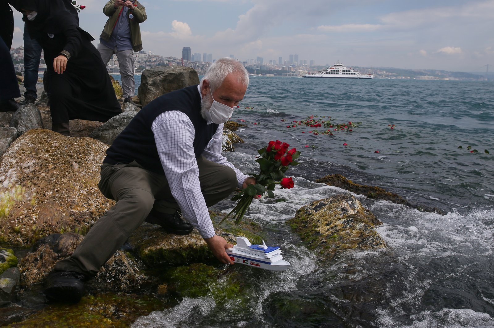 The Humanitarian Relief Foundation (IHH) organized a commemoration for the Mavi Marmara victims, Istanbul, Turkey, May 29, 2020 (AA Photo)
