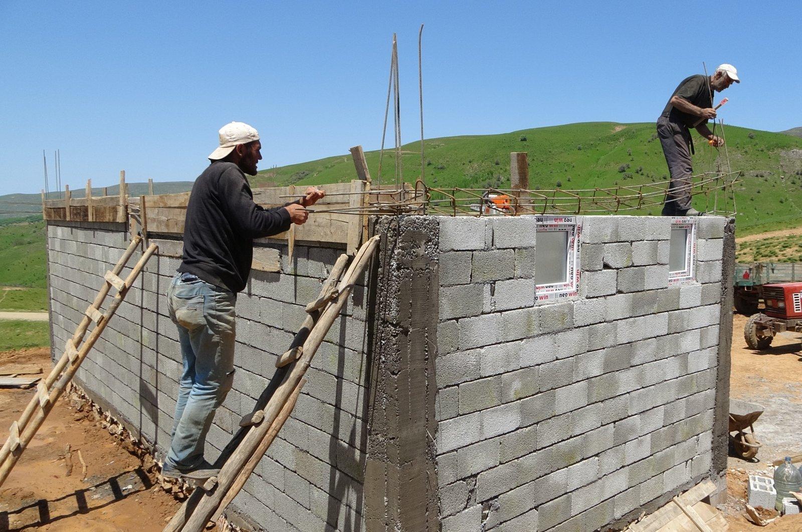 Returned villagers rebuilt their houses, Muş, June 1, 2020. (IHA)