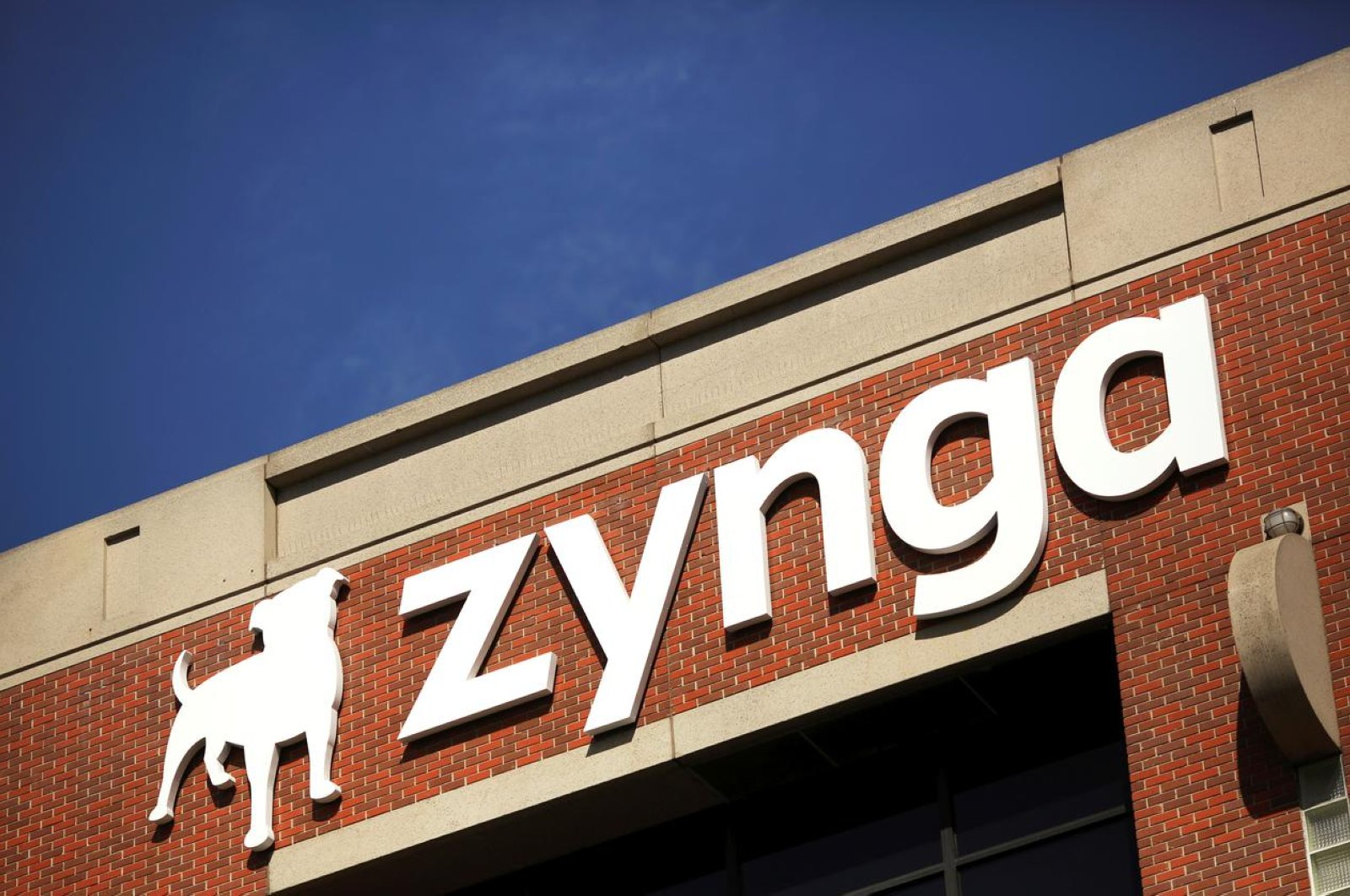 The Zynga logo is pictured at the company's headquarters in San Francisco, California, April 23, 2014. (REUTERS Photo)