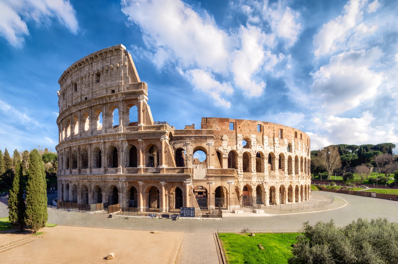 An undated photo showing The Colosseum in Rome without people in the morning hours. (iStock Photo)