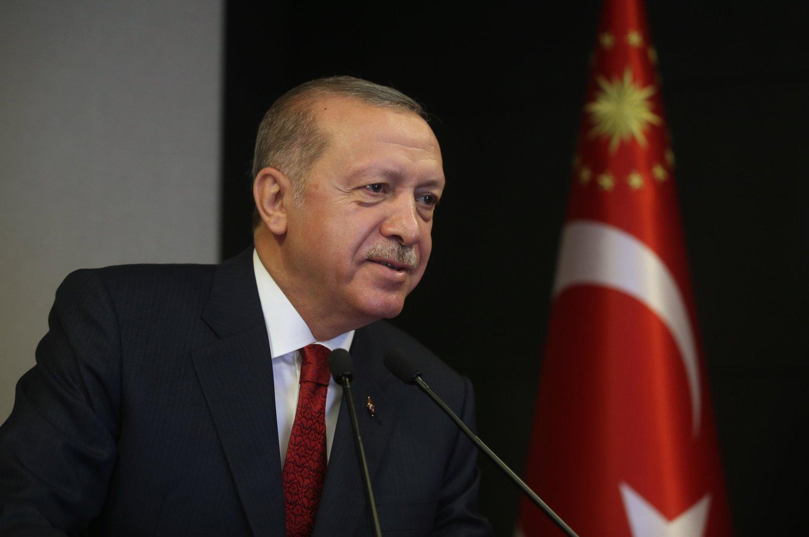 President Recep Tayyip Erdoğan. (AA)