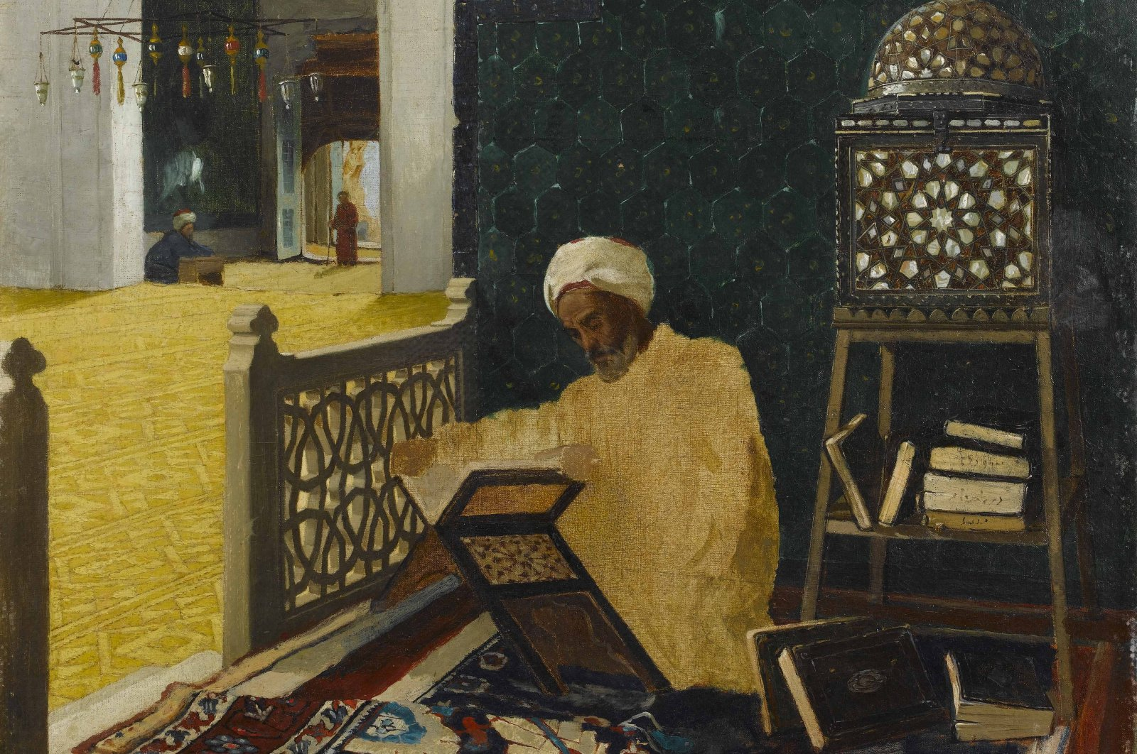 "Osman Hamdi Bey's ""Kuran Okuyan Hoca"" (""Hodja Reading the Quran"") was one of the works examined in the project."