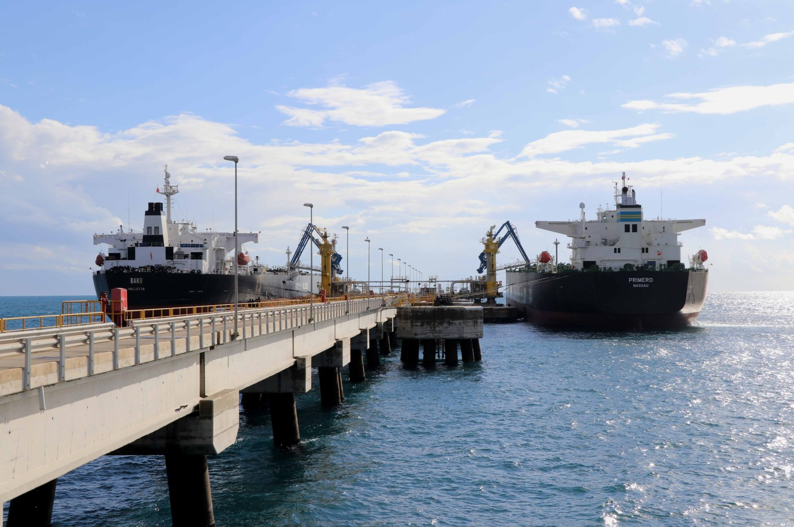 The BTC pipeline delivered 3.4 billion barrels of crude oil shipped from the marine terminal at Ceyhan in southern Turkey's Adana in 14 years. ( BOTAS Internatıonal via AA)