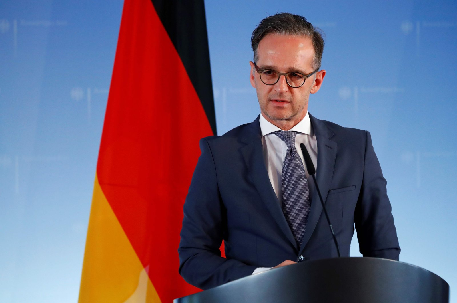 German Foreign Minister Heiko Maas attends a joint news conference with his Ukrainian counterpart Dmytro Kuleba (unseen) after bilateral discussions in Berlin, June 2, 2020. (AFP Photo)