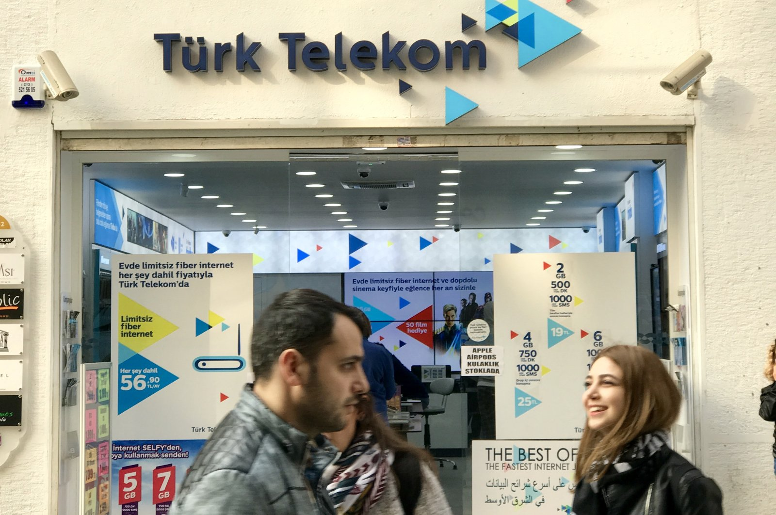 A Türk Telekom store is seen in Istanbul's Beyoğlu district in this undated photo. (iStock Photo)