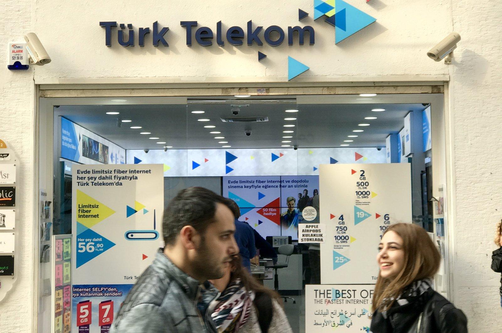 A Türk Telekom store is seen in Istanbul's Beyoğlu district in this undated photo. (iStock Photo)
