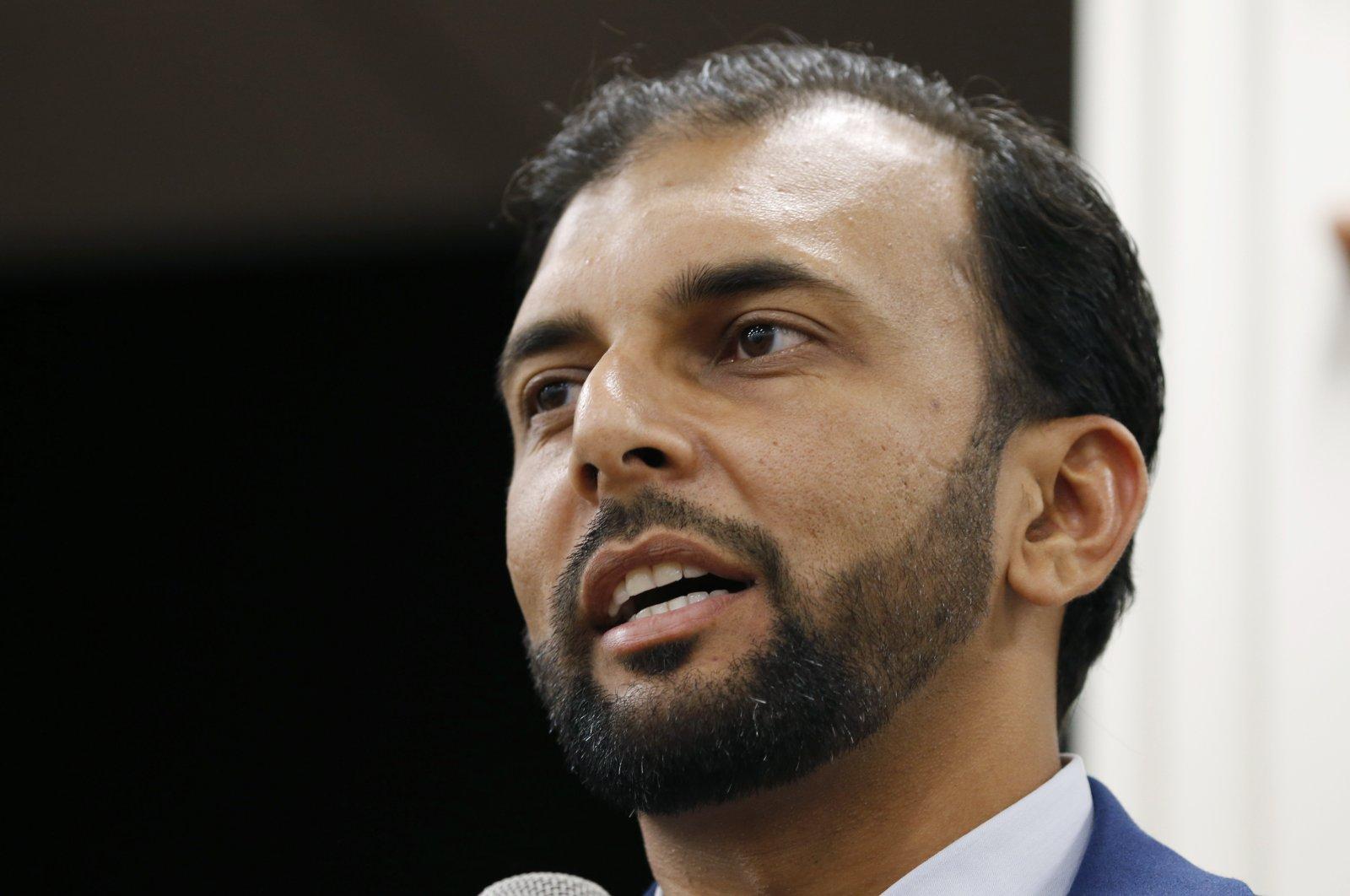 Democratic candidate for the 28th district for the Virginia Senate, Qasim Rashid, in Fredericksburg, Va., Oct. 8, 2019. (AP Photo)