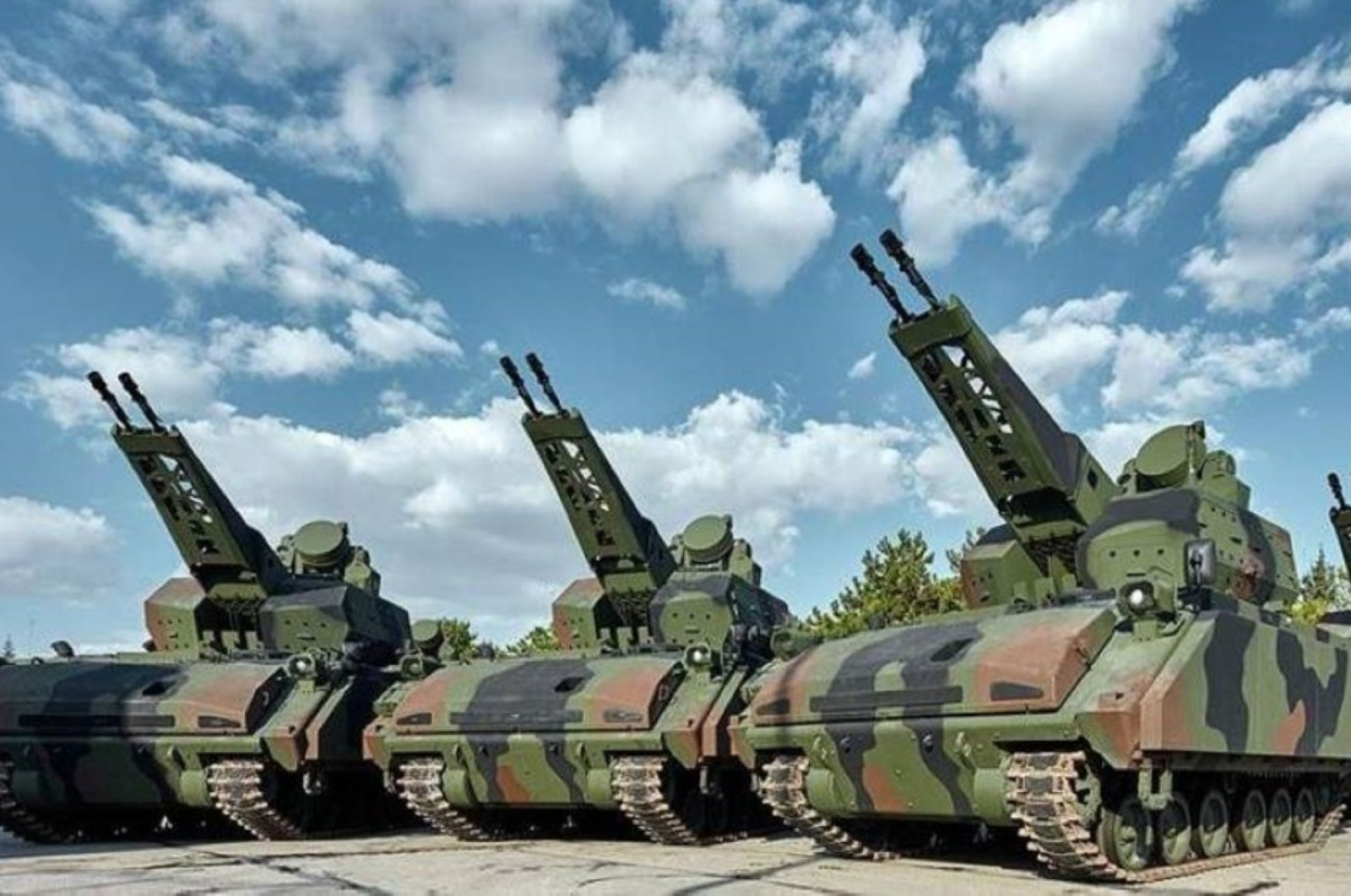 Self-propelled Korkut Air Defense Systems developed by ASELSAN. (AA Photo)