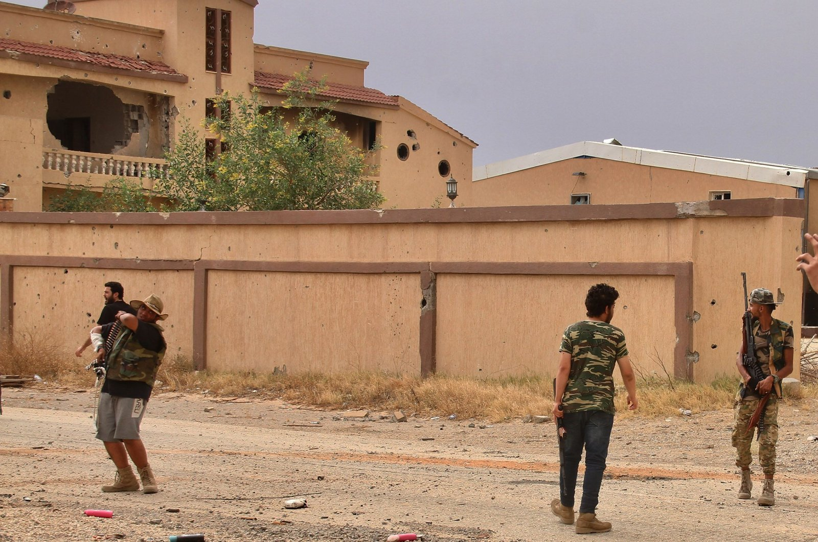 Fighters loyal to the internationally recognised Libyan Government of National Accord (GNA) are pictured during clashes with forces loyal to Khalifa Haftar in an area south of the Libyan capital Tripoli on June 1, 2020. (AFP Photo)