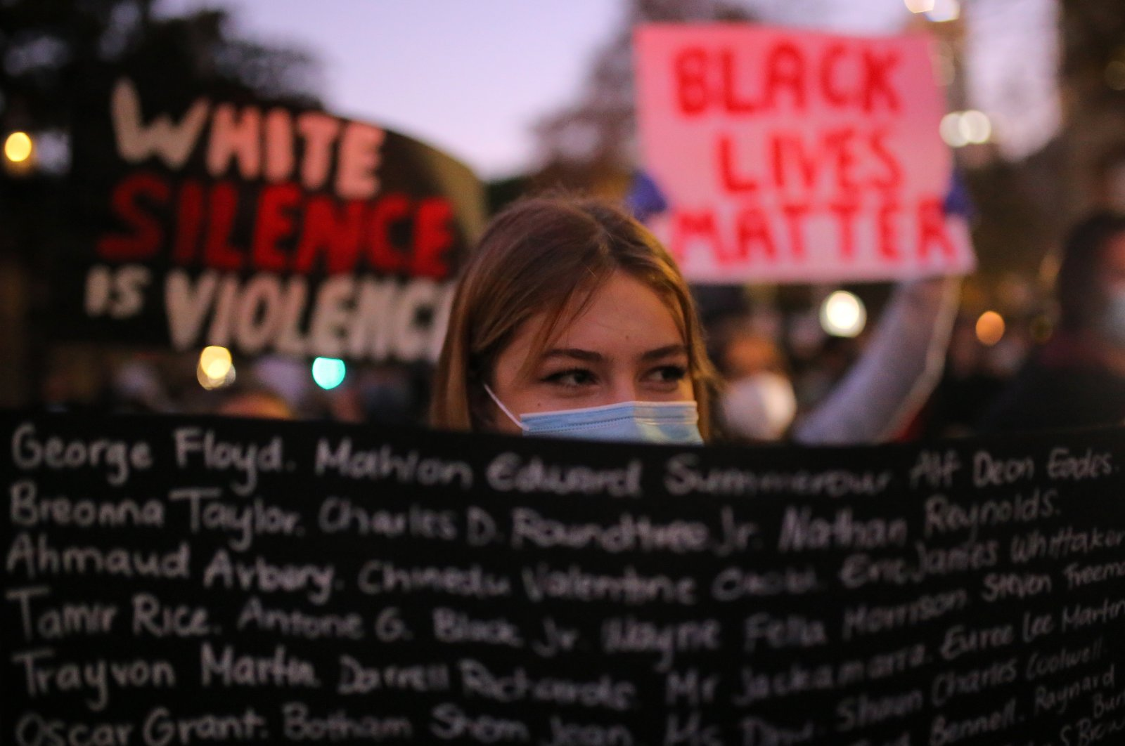 People take part in a Black Lives Matter protest following the deadly arrest and death of George Floyd in Minneapolis, in Sydney, Australia, June 2, 2020. (EPA Photo)