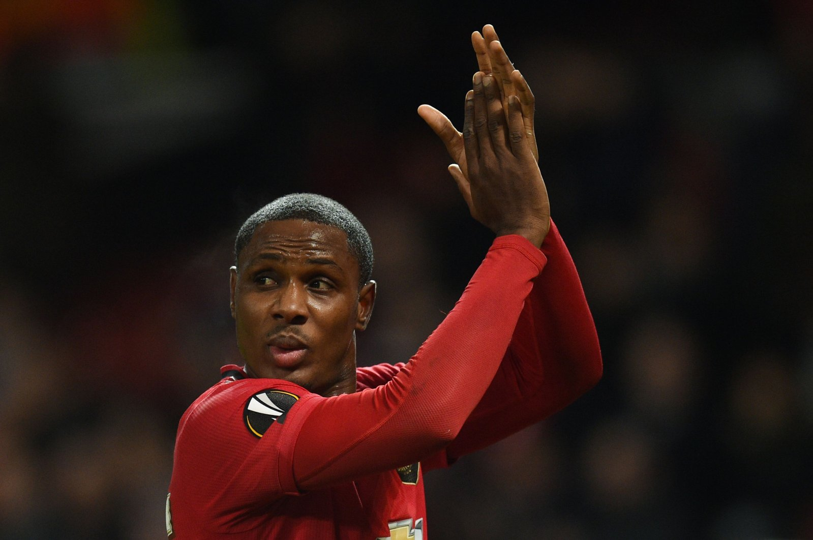 Odion Ighalo reacts during a UEFA Europa League match in Manchester, England, Feb. 27, 2020. (AFP Photo)