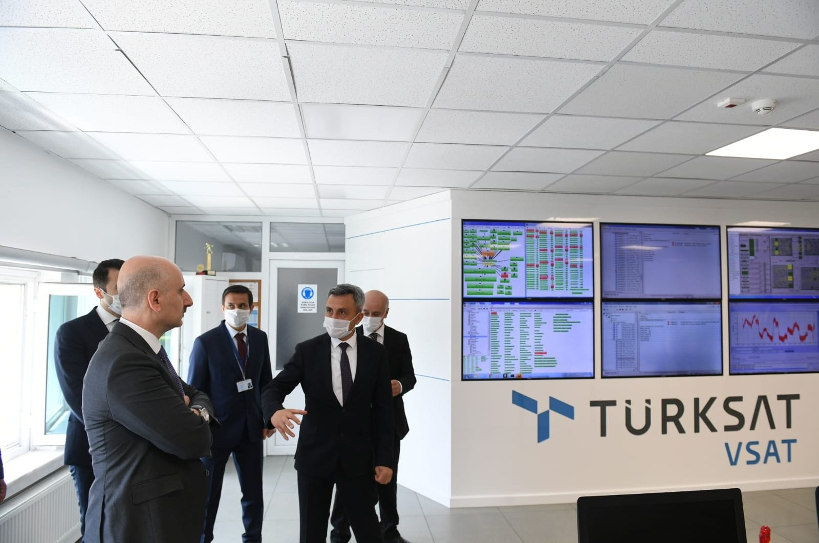 Transportaion and Infrastructure Minister Adil Karaismailoğlu during his visit to Türksat compound in Gölbaşı, Ankara, June 3, 2020. (IHA Photo)