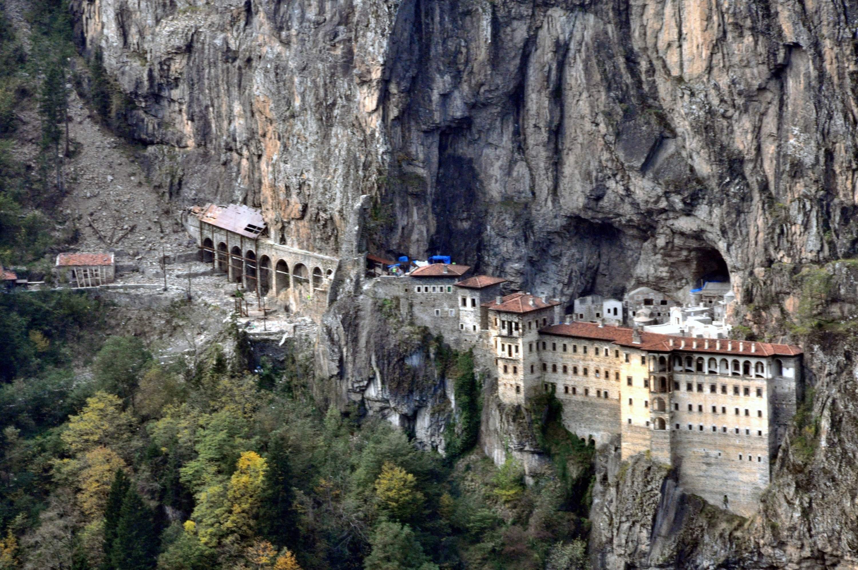 The first part of Sümela Monastery has been reopened to visitors. (DHA PHOTO)