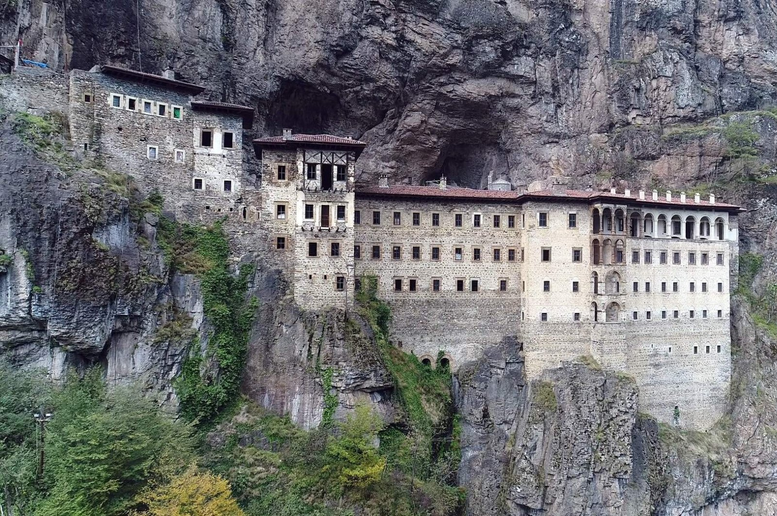 Sümela Monastery is carved out of rocks in a wooded area 300 meters above the Altındere Valley, Trabzon. (İHA PHOTO)
