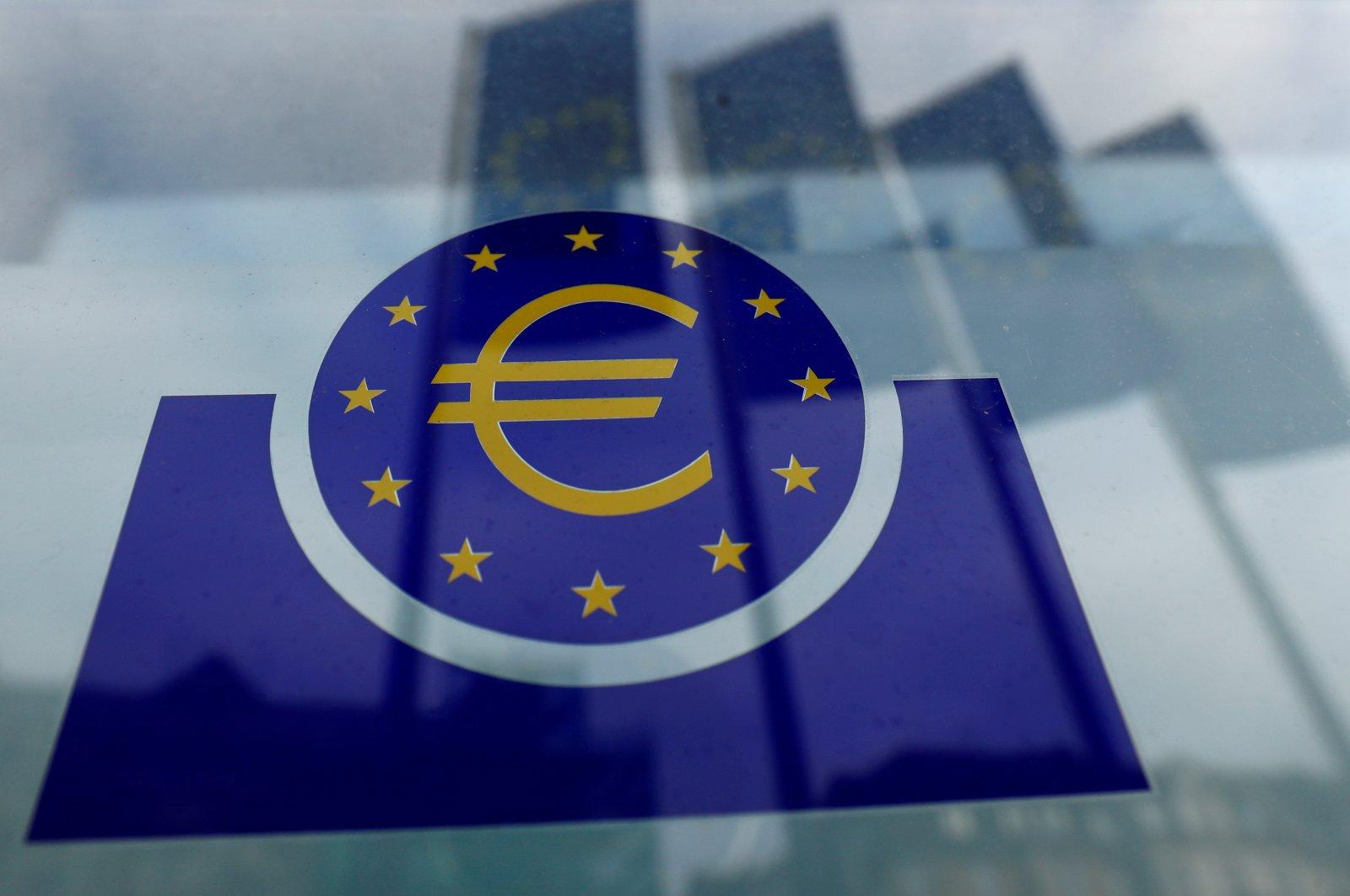 The European Central Bank logo, Frankfurt, Germany, Jan. 23, 2020. (Reuters Photo)
