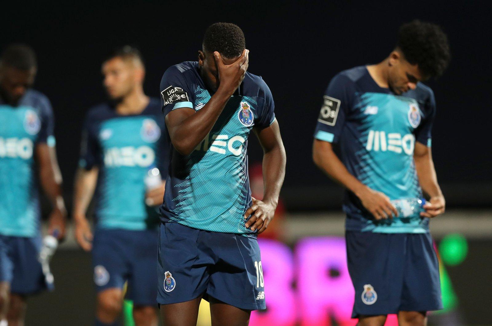 FC Porto's Wilson Manafa reacts after a match against FC Famalicao in Vila Nova de Famalicao, Portugal, June 3, 2020. (AFP Photo)